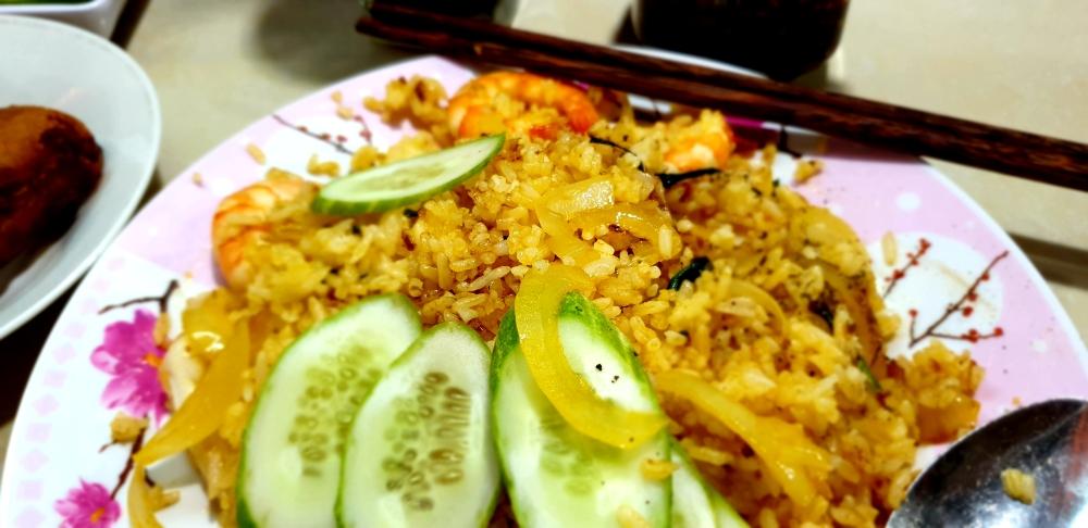 street food vietnam, seafood rice